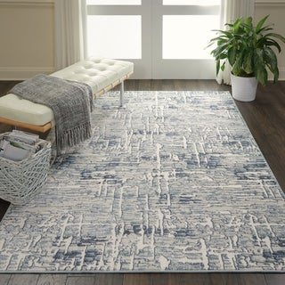 """Nourison Urban Chic Ivory Abstract Area Rug - 5'3"""" x 7'3"""""""