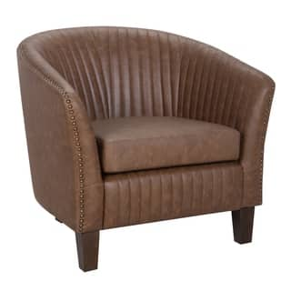 Faux Leather Living Room Chairs | Shop Online at Overstock