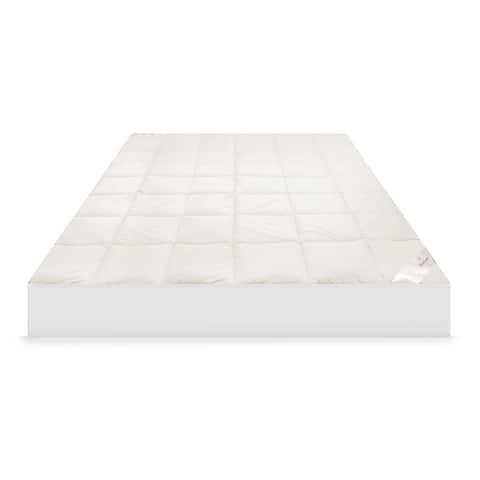 MaryJane's Home 300 Thread Count Organic Cotton Mattress Pad - White