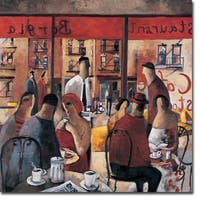 Café New York by Didier Lourenco Gallery Wrapped Canvas Giclee Art