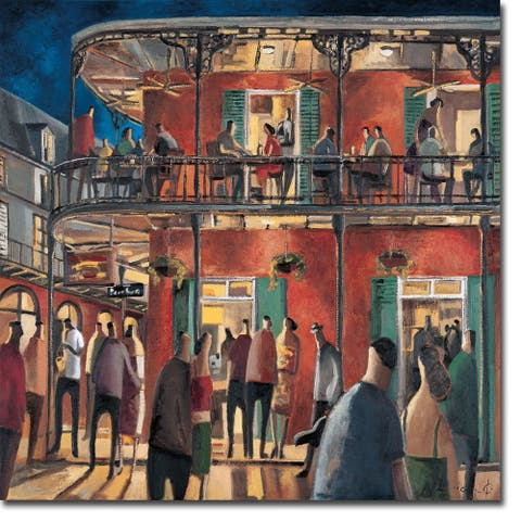 New Orleans Street by Didier Lourenco Gallery Wrapped Canvas Giclee Art