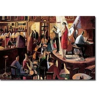 The Red Singer by Didier Lourenco Gallery Wrapped Canvas Giclee Art