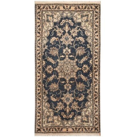 Handmade One-of-a-Kind Nain Wool and Silk Rug (Iran) - 2'4 x 4'7