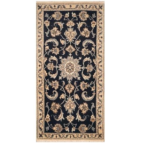 Handmade One-of-a-Kind Nain Wool and Silk Rug (Iran) - 2'4 x 4'9