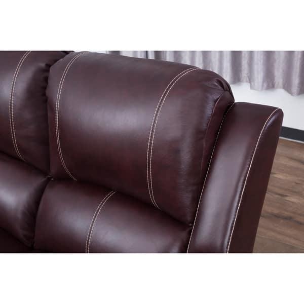 Magnificent Shop Abbyson Winston Burgundy Top Grain Leather Reclining Inzonedesignstudio Interior Chair Design Inzonedesignstudiocom