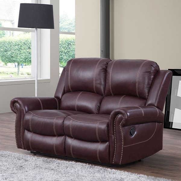 Swell Shop Abbyson Winston Burgundy Top Grain Leather Reclining Inzonedesignstudio Interior Chair Design Inzonedesignstudiocom