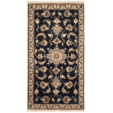 Handmade One-of-a-Kind Nain Wool and Silk Rug (Iran) - 2'4 x 4'4