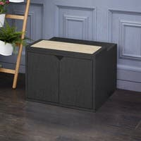 Eco Modern Cat Litter Box Enclosure, Black LIFETIME GUARANTEE
