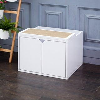 Eco Modern Cat Litter Box Enclosure, White LIFETIME GUARANTEE
