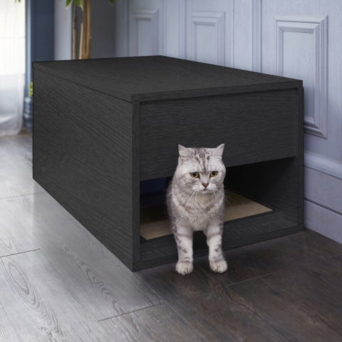 Eco Modern Cat Litter Box and Sidetable, Black LIFETIME GUARANTEE