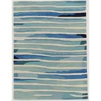 Trinity Silt Handmade Ivory/Blue Area Rug - 8' x10'