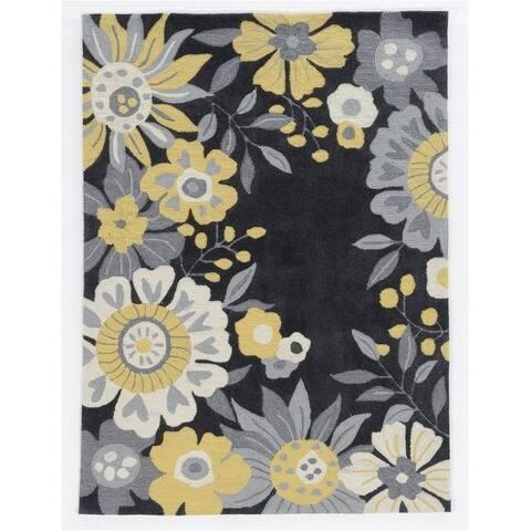 Trinity Wildflower Grey/Yellow - 5' x 7'