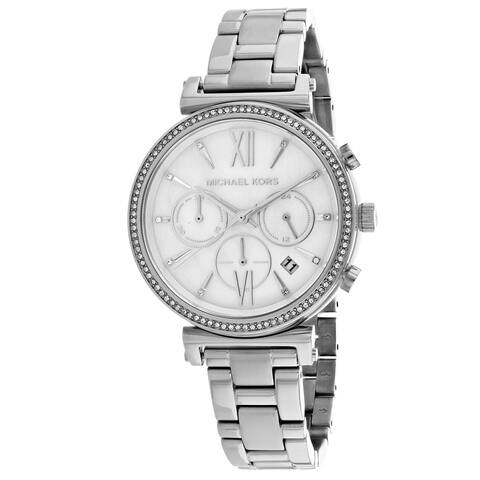 Michael Kors Women's MK6575 'Sofie' Chronograph Crystal Stainless Steel Watch