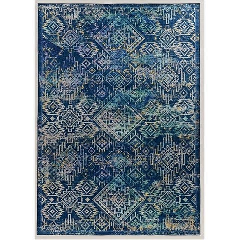 """Halogen Collection Navy/Teal - 6'7"""" x 9'6"""""""