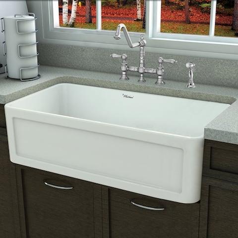 "Whitehaus Collection 33"" Reversible Series Single Bowl Sink"