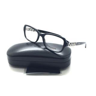 e2e6044ce83 COACH 6075Q 5002 Eyeglasses Optical Frames Glasses Black   Silver Chain 52mm