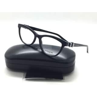 7906445a2c8 Coach Black Eyeglasses Belt Buckle Temples 51MM