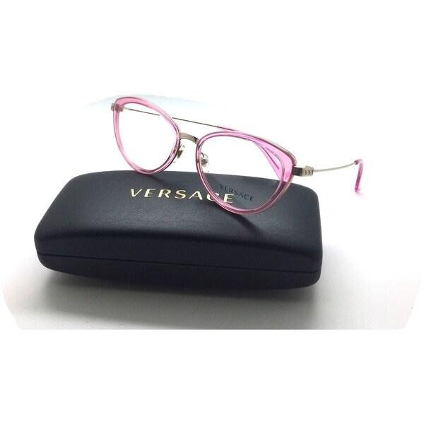 1e6a00af30d Shop VERSACE Pale Gold Transp Pink MOD 1244 1404 Eyeglasses 53mm ...