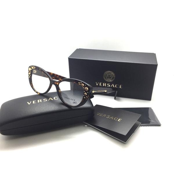 f03f711875 Versace MOD 3221-B 108 Havana Authentic Eyeglasses 52mm 17mm 140mm NIB