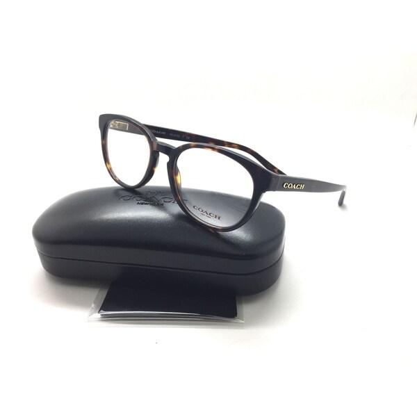 8ace77a47a Coach Women  x27 s HC6102 5120 51 Dark Tortoise Rectangle Plastic Eyeglasses