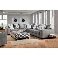 SofaTrendz Finley Stonewash Black/Gray Sectional Only