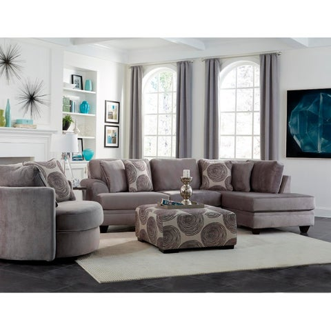SofaTrendz Fairmount Smoke Grey Sectional