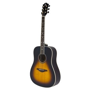 Hohner A Plus AS355 Steel String Dreadnought Solid Top Acoustic Guitar w/ Gig Bag, Tobacco Sunburst