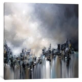 "iCanvas ""Smoke City"" by J.A Art"