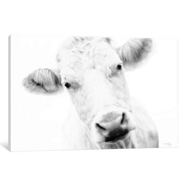 Shop Icanvas Quot Cow Iv Quot By Jennifer Pugh On Sale Free