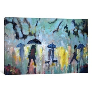 "iCanvas ""Two Dachshunds In The Rain"" by Kip Decker"