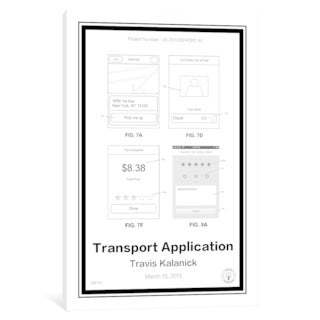 "iCanvas ""Uber"" by Retro Patents"
