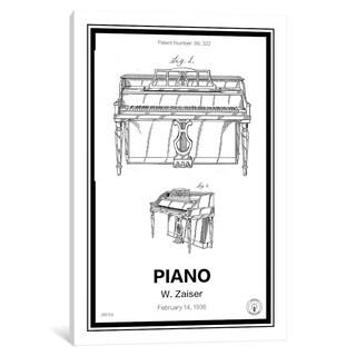 """iCanvas """"Piano"""" by Retro Patents"""