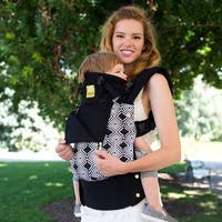 LILLEbaby Complete All Seasons Baby Carrier in Soho Noir with Gold