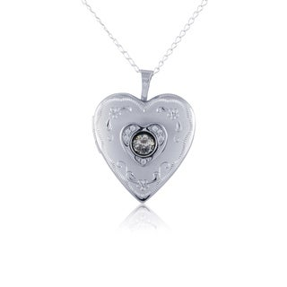 Sterling Silver Heart Locket Pendant Charm