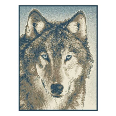 IBENA Oversized Throw Blanket - Wolf