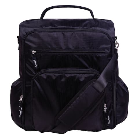 Black Convertible Backpack Diaper Bag