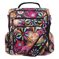 Bohemian Floral Convertible Backpack Diaper Bag