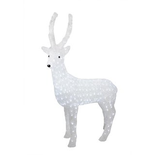 "41"" Pre-lit Commercial Grade Acrylic Reindeer Christmas Display Decoration - Polar White LED Lights"