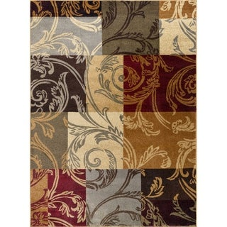 Alise Rugs Infinity Transitional Floral Scatter Mat Rug - multi - 2' x 3'