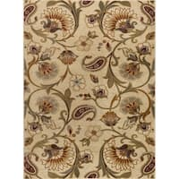 Alise Rugs Infinity Transitional Floral Scatter Mat Rug - 2' x 3'