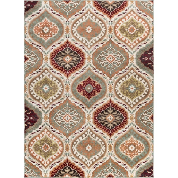 Alise Rugs Decora Transitional Geometric Scatter Mat Rug - multi - 2' x 3'
