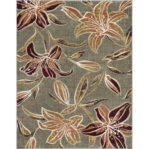 Alise Rugs Decora Transitional Floral Scatter Mat Rug