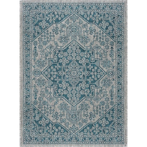 Alise Rugs Colonnade Traditional Medallion Scatter Mat Rug - 2' x 3'