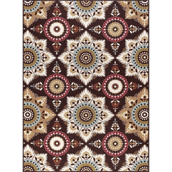 Alise Rugs Majolica Transitional Floral Scatter Mat Rug
