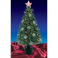 4' Pre-Lit Fiber Optic Artificial Christmas Tree with Stars