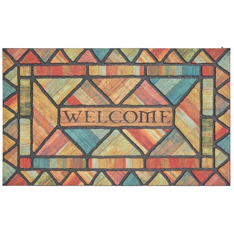 Mohawk Home Doorscapes Welcome Woodland Walk Door Mat (1'6 x 2'6)