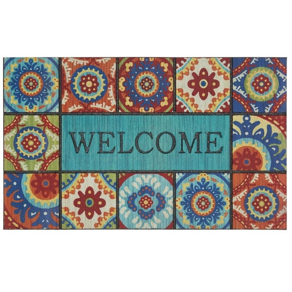 Mohawk Home Doorscapes Welcome Exotic Tiles Door Mat (1'6 x 2'6)