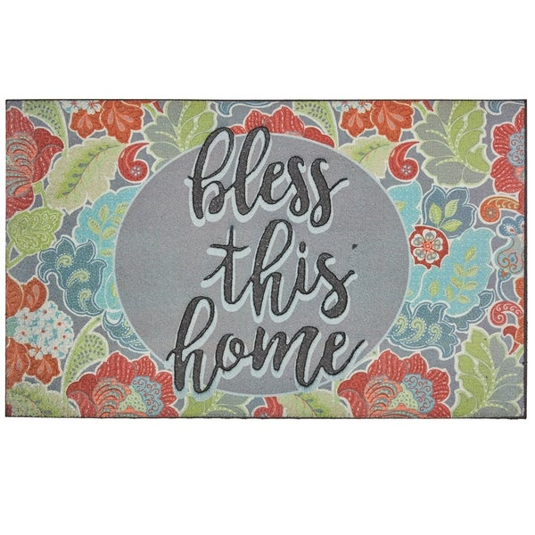 Mohawk Home Doorscapes Bless This Home Door Mat (1'6 x 2'6)