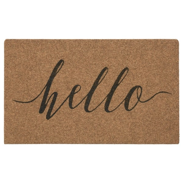 Mohawk Grand Terrace Natural Hello Calligraphy Mat (1'6 x 2'6). Opens flyout.