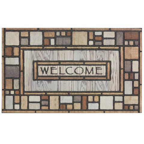 Mohawk Home Doorscapes Welcome Drifted Nature Door Mat (1'11 x 2'11)